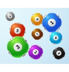 Lottery balls sports lotto game concept vector image vector image