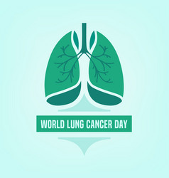 Lung cancer day vector