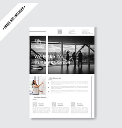 minimalist business flyer template vector image