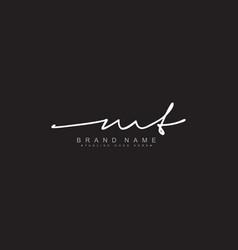 Mt initial letter logo - handwritten signature vector