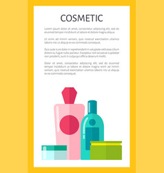 Natural cosmetics for skincare promotional poster vector
