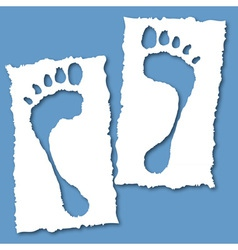 paper foot hole vector image