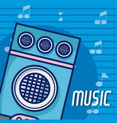party speaker modern music equipment vector image