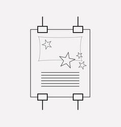 poster design icon line element vector image
