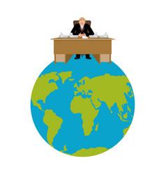 president of world big boss planet earth master vector image