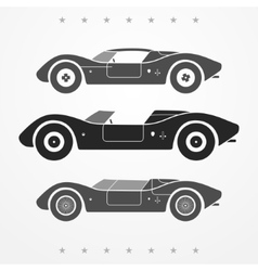 Race cars set vector image