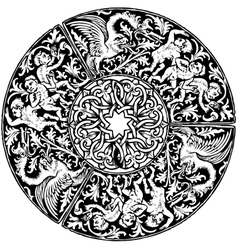 Renaissance seamless pattern vector