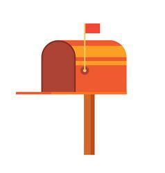 retro vinatge styed mail box vector image