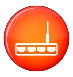 Router icon flat style vector