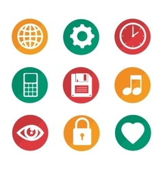 Settings menu set icons vector