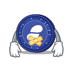 silent status coin mascot cartoon vector image