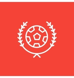 Soccer badge line icon vector image