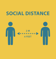 social distance icons vector image