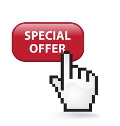 Special Offer Button vector image