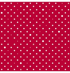 Strawberry Red White Star Polka Dots Background vector