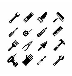 Tools icons set vector image vector image