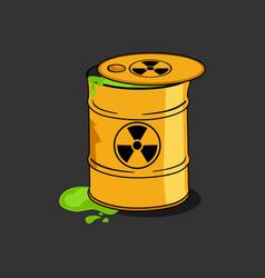 toxic radioactive nuclear waste barrel cartoon vector image