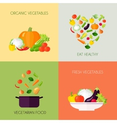 Vegetables Flat Set vector