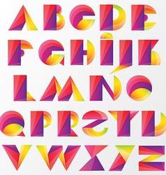 Vivid lettering vector