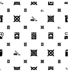 washer icons pattern seamless white background vector image