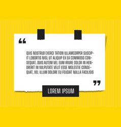 Web paper sheet with profound quote attached vector