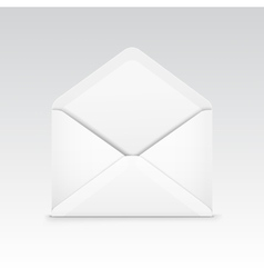 White Blank Envelope Isolated vector image
