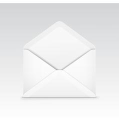 white blank envelope isolated vector image