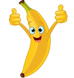 cartoon banana character vector image vector image