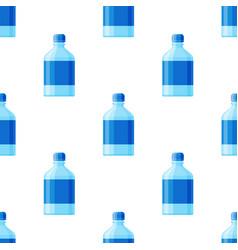 water plastic bottle transparent mineral vector image vector image