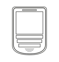 cellphone isolated icon design vector image