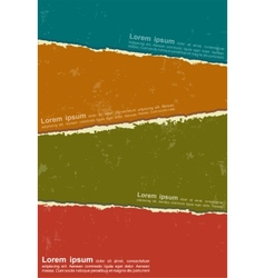 Design colorful torn papers vector image vector image