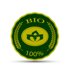 emblem with bio text vector image vector image