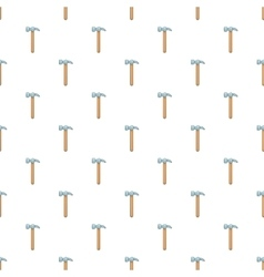 Hammer tool pattern cartoon style vector image
