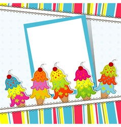 Ice Cream Card Template vector image vector image