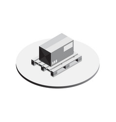 pallet whith box isometric vector image