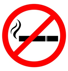 Prohibiting smoking sign vector image