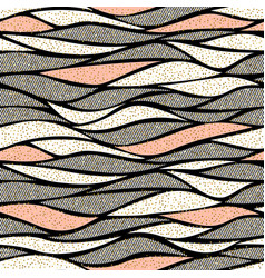 seamless wave pattern for textile and vector image vector image