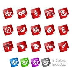 Social Media Stickers vector image vector image