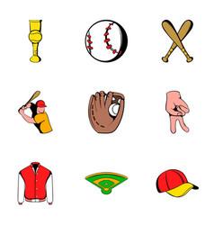 baseball uniform icons set cartoon style vector image vector image