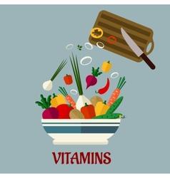 Cooking salad flat design vector image