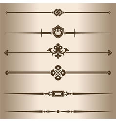 Decorative lines vector image