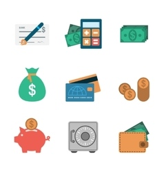 Finance Icons Flat vector image