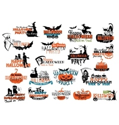 Halloween party banners and headers vector image vector image