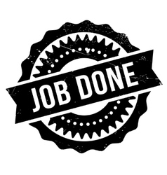 Job done stamp vector image