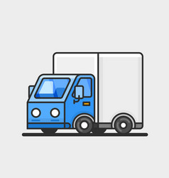 modern delivery truck icon transportation concept vector image