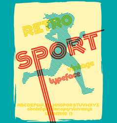 sport 76 font vector image vector image