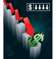 US Currency Crash vector image