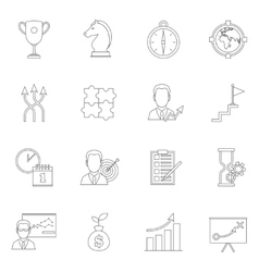 Business strategy planning icon outline vector image vector image