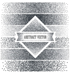 Halftone Background with Dots Dotwork Engraving vector image