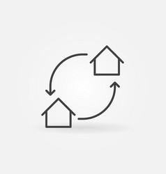 house exchange icon vector image vector image